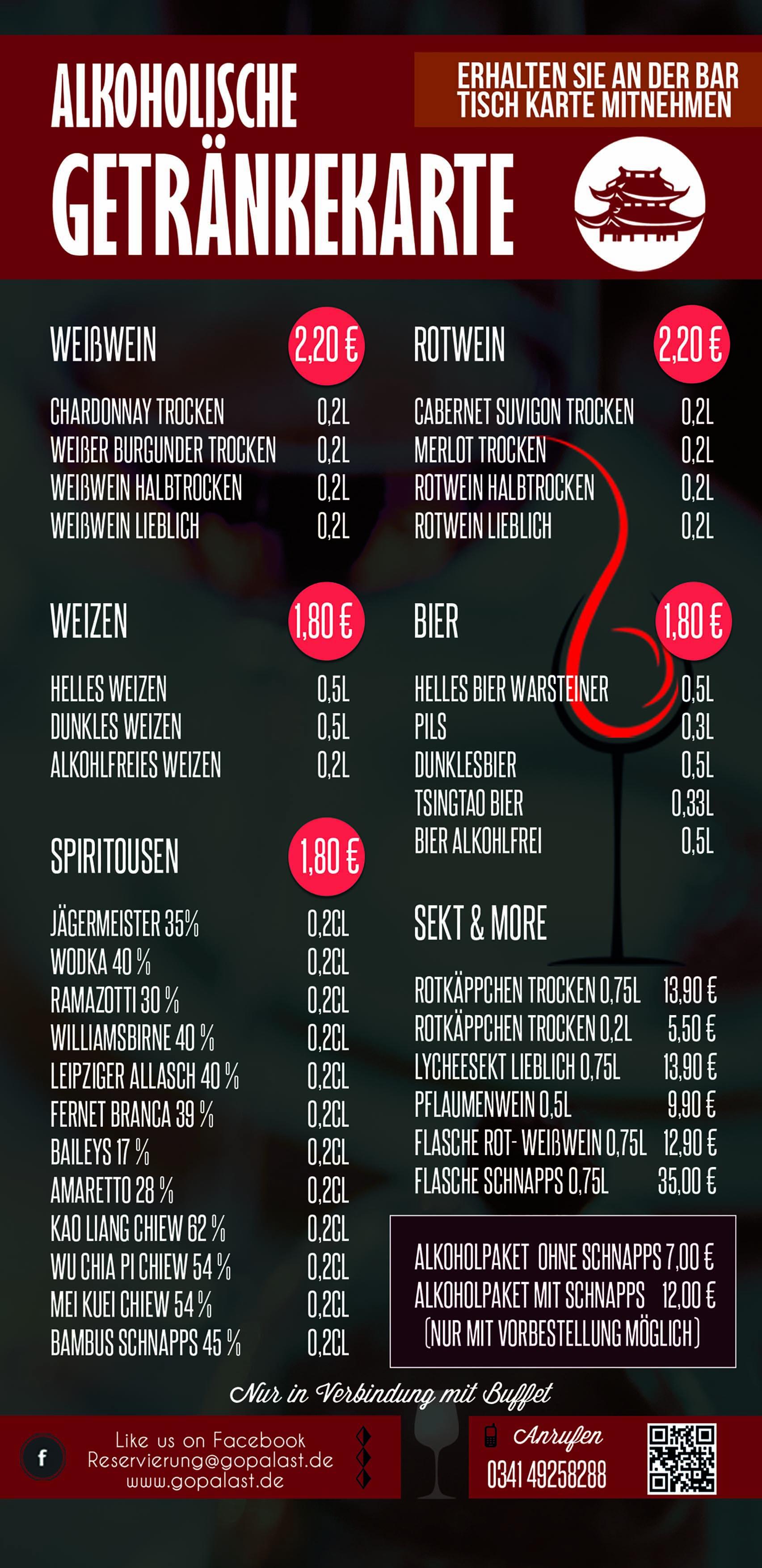 Getränkepreise
